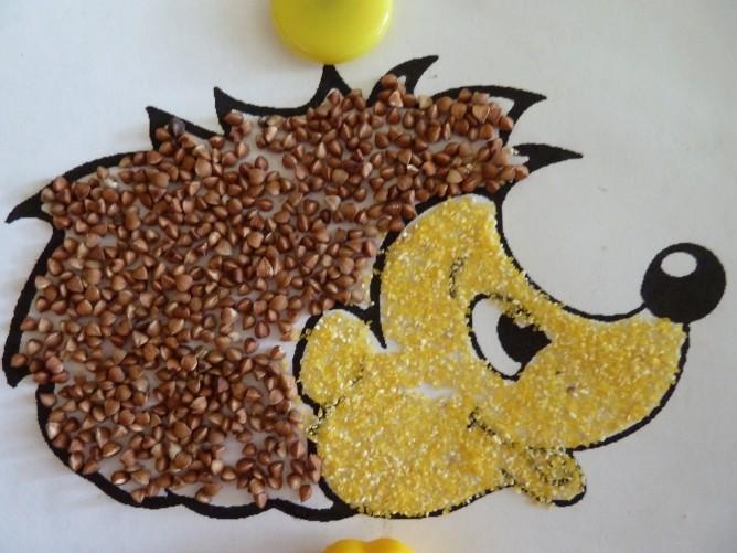 Поделки из риса и гречки для детей